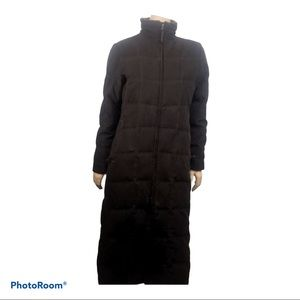 LL Bean Brown Long Goose Down Puffer Jacket Coat